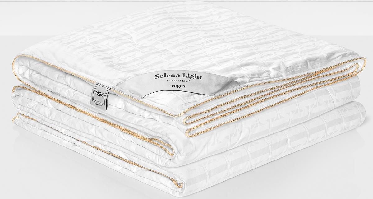 Одеяло Togas Селена Лайт, наполнитель: шелк, цвет: белый, 200 x 210 см одеяло luolailin 100