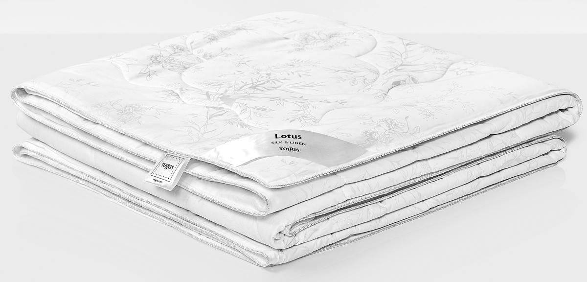 Одеяло Togas Лотос, наполнитель: лен, шелк, цвет: белый, 200 x 210 см одеяла togas одеяло гелиос 220х240 см