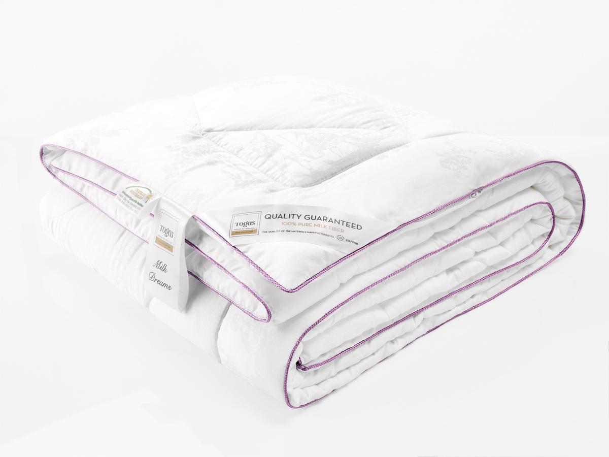 Одеяло Togas Милк Дримс, наполнитель: молочная нить, цвет: белый, 200 x 210 см20.04.39.0004Милк Дримс одеяло. Наполнитель: Молочное волокно.Состав: чехол: 100% модал жаккард 295ТС; наполнитель: 100% молочное волокно 200гр/м2, саше: запах лаванды.Комплектация: 1 одеяло.Размер: 200 x 210 см. Уход: может применяться машинная стирка при температуре не выше 30 C, не отбеливать, не гладить, сухая чистка, сушить при низких температурах.