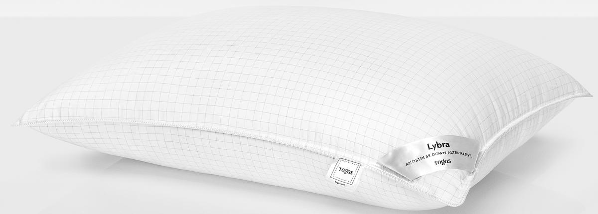 Подушка Togas Либра, наполнитель: микрофайбер, цвет: белый, 50 x 70 см20.05.18.0087Легкая подушка подарит непревзойденные ощущения комфорта и уюта. Она прекрасно сохраняет форму и объем, не деформируется, легкостирается и быстро сохнет. Подушка Togas - лучшее решение для современных квартир. Она одинаково хорошо подойдет как взрослым, так идетям.Состав: чехол: 100% микрофибра с ионами серебра 240ТС; наполнитель: 100% микрофайбер синтетический пух, 700 г.