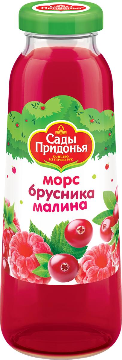 Сады Придонья Морс бруснично-малиновый, 0,3 л соки и напитки сады придонья сок апельсиновый с 3 лет 1 л
