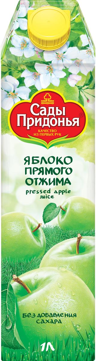 Фото Сады Придонья Сок яблочный прямого отжима осветленный, 1 л