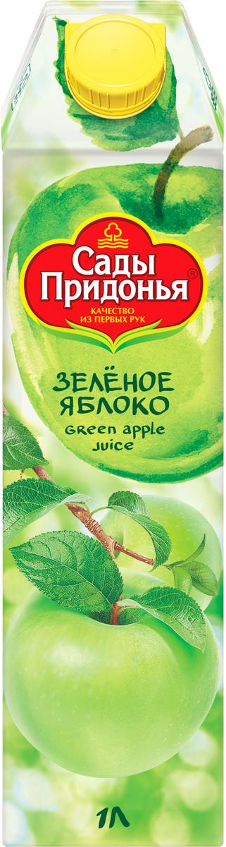 Сады Придонья Сок яблочный из зеленых яблок осветленный восстановленный, 1 лСок для здорового питания для детей и взрослых, производится по особой рецептуре, на основе сока Донских яблок.