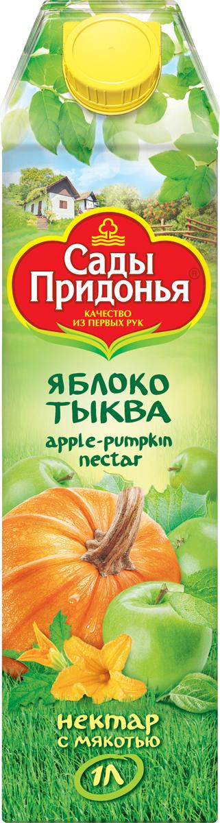 Сады Придонья Нектар яблочно-тыквенный с мякотью, 1 л мязина сады россии