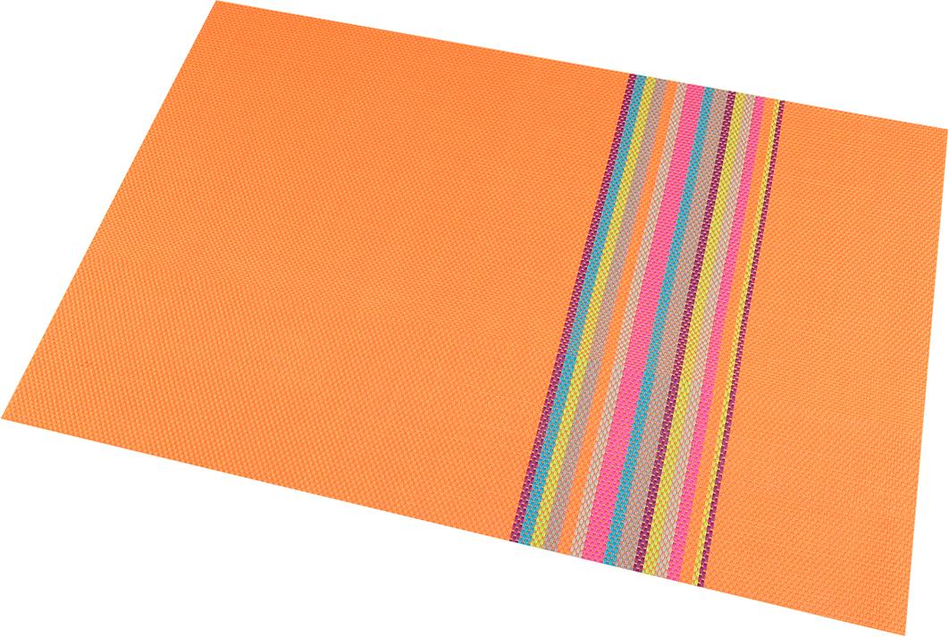 Набор салфеток Elan Gallery Радуга на оранжевом, 45 х 30 см, 4 шт170913Салфетки Elan Gallery Радуга на оранжевом предназначеныдля сервирования стола и украшение интерьера. Салфетки выполнены из ПВХ. Такие изделия легко моются и удобны в хранении, имеют стильный и красивый дизайн. Изготовлены из современного, высокотехнологичного материала, обладающего рядом уникальных свойств: высокая прочность, эластичность, большая износостойкость, высокая термостойкость и устойчивость к ультрафиолетовым лучам.Меры предосторожности: температурный режим использования до 90°С. Не подвергать прямому воздействию огня!