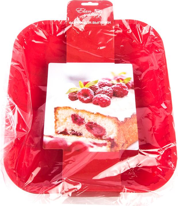 Противень Elan Gallery, цвет: красный, прямоугольный, силиконовый, 30 х 25 х 5 см590049Яркий противень поднимет настроение любой хозяйке, удобен в использовании, легко моется.