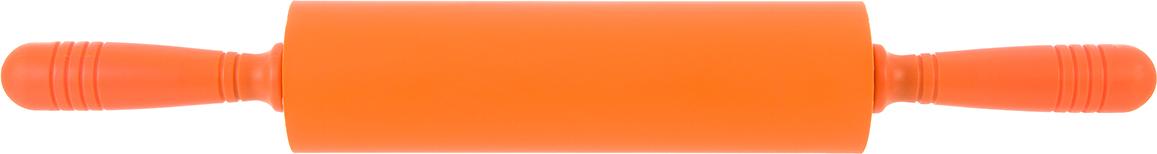 Скалка Elan Gallery, цвет: оранжевый, 47 х 6,5 х 6,5 см590081Превосходно подходит для раскатки очень тонкого теста для коржа или пиццы и, при этом, тесто не надо посыпать мукой или смазывать маслом.К силиконовой скалке тесто не прилипнет, а эргономичные пластиковые ручки обеспечат максимальный комфорт при ее использовании. Она очень легка в уходе, просто сполосните скалку теплой водой и просушите. Можно мыть в посудомоечной машине.
