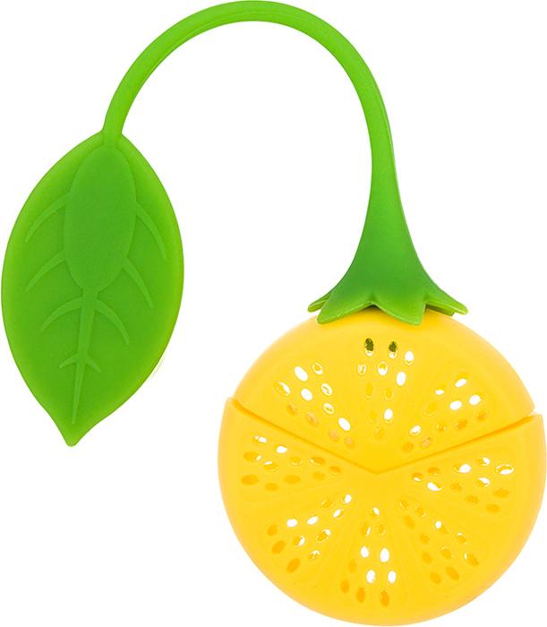Ситечко для заварки Elan Gallery Лимон, 18,5 х 5 х 2 см590292Сито для заваривания чая «Лимон» - очень удобная вещь для тех, ктопредпочитает заваривать листовой чай в кружке. Сито выполнено извысококачественного силикона, что позволяет не просыпать ни листочка, и непортить чай надоедливыми вездесущими чаинками. Удобный хвостик в виделистика позволит не обжечь руки.