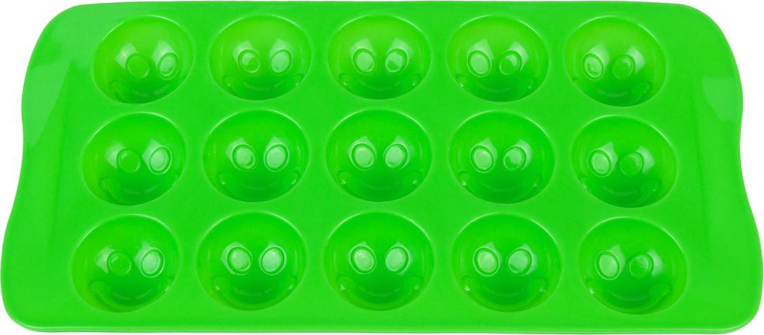 Форма для льда Elan Gallery Смайлики, цвет: салатовый, 21 х 10,5 х 2 см, 15 ячеек590294Силиконовая форма для шоколадных конфет и льда «Смайлики» выполнена извысококачественного силикона, проста в использовании и легко моется впосудомоечной машине. Силикон переносит температуру от - 40 до + 240°С, невпитывает запахи и к нему не прилипают готовые продукты. Форма рассчитана на15 изделий. В серии форм представлены разные цвета, формы ячеек и ихколичество - каждая хозяйка сможет выбрать свою идеальную форму.