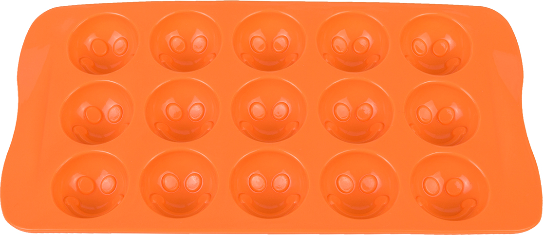 Форма для льда Elan Gallery Смайлики, цвет: оранжевый, 21 х 10,5 х 2 см, 15 ячеек590295Яркая форма для шоколадных изделий и льда, несомненно, придется по душе любой хозяйке. Форма удобна в использовании, легко моется.