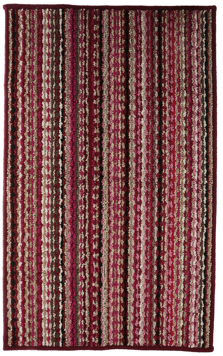 Коврик придверный Vortex Spark, цвет: бордовый, 50 х 80 см. 22354 коврик придверный 35х60 см черный свинка vortex 20028