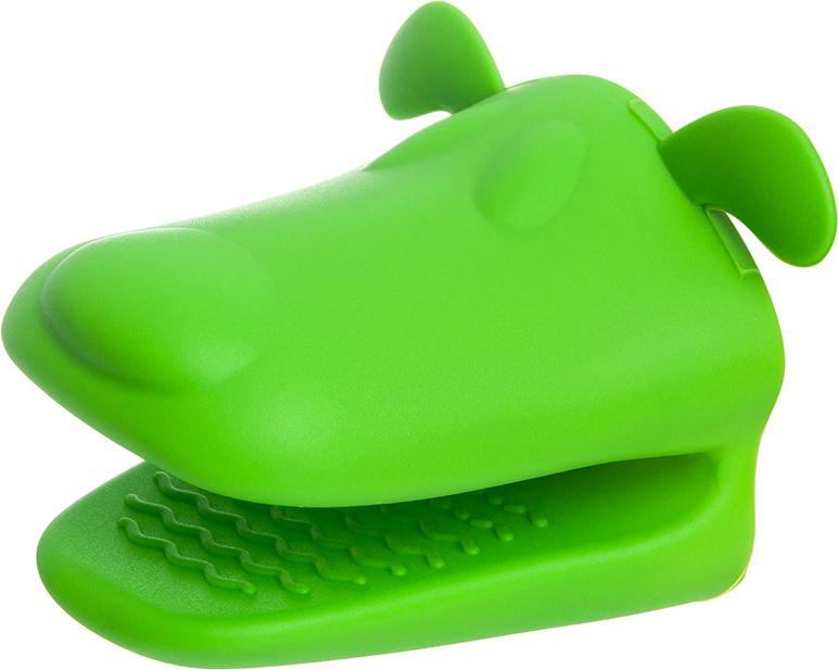 Прихватка Elan Gallery Собачка, цвет: зеленый, 10 х 10 х 8,5 см590084Прихватка в виде собачки выполнена из высококачественного силикона. Прихватка занимает мало места,термостойкая, а рабочая поверхность прихватки обладает противоскользящимпокрытием, благодаря которой даже мокроеблюдо легко удержать в руках.Помимо прямого назначения прихваткой-собачкой любят играть дети в кукольныйтеатр.