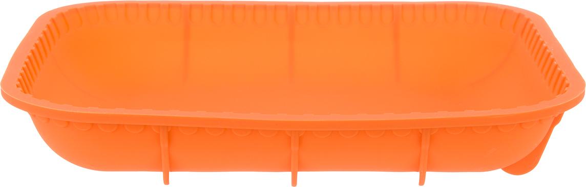 Противень Elan Gallery, цвет: оранжевый, прямоугольный, силиконовый, 30 х 25 х 5 см590050Яркий противень поднимет настроение любой хозяйке, удобен в использовании, легко моется.