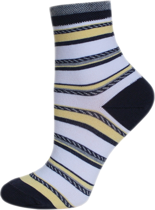 Носки женские Брестские Classic, цвет: темно-серый, желтый. 14С1100_083. Размер 38/39 носки женские брестские classic цвет бледно голубой 14с1101 018 размер 36 37
