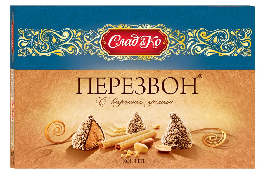 Сладко Перезвон в вафельной крошке набор конфет, 220 г40085Нежные конфеты с арахисовой начинкой в вафельной крошке.