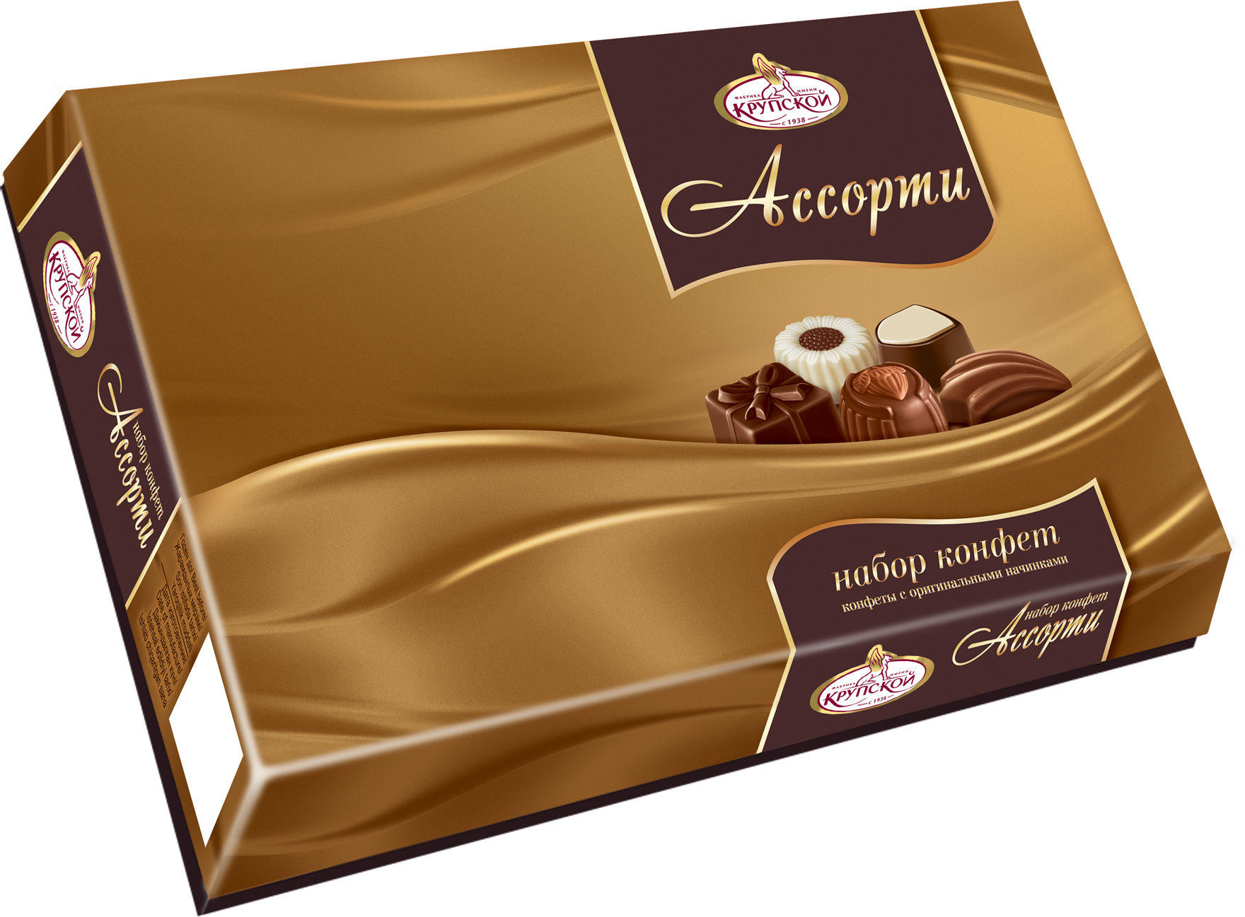 Фабрика имени Крупской ассорти набор конфет, 183 г20083Набор конфет с различными начинками. Богатство вкусов, тщательно подобранных под самые изысканные предпочтения.