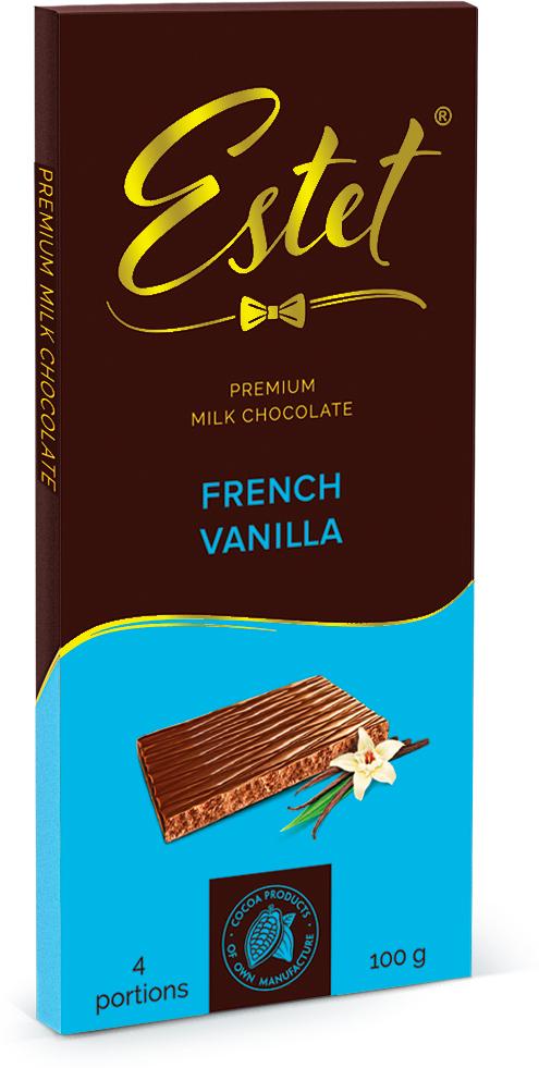 Фабрика имени Крупской Estet молочный шоколад со вкусом французской ванили, 100 г питание pediasure малоежка со вкусом ванили 200мл