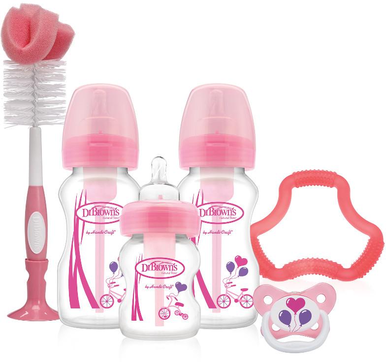 Dr. Brown's Подарочный набор Options цвет розовый 6 предметов прорезыватель dr brown dr browns bpa