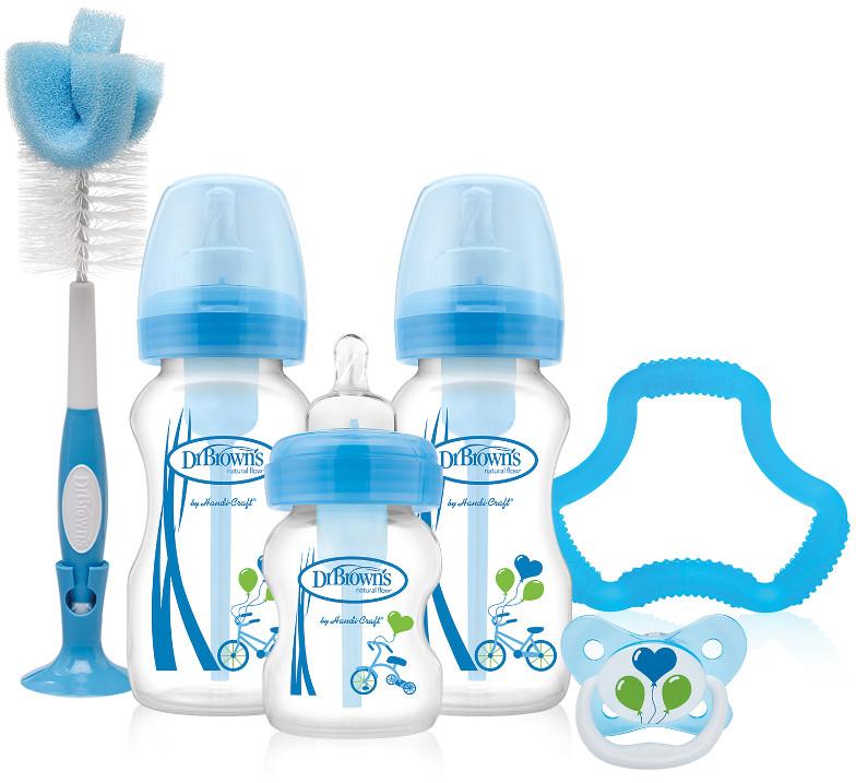Dr. Brown's Подарочный набор Options цвет синий 6 предметов dr browns набор из 6 бутылочек с широким горлышком dr browns 240 мл полипропилен арт 455