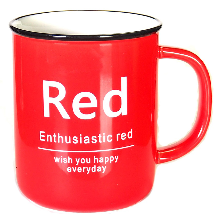 Кружка Карамба, цвет: красный, 400 мл004905Яркая кружка объемом 400 мл