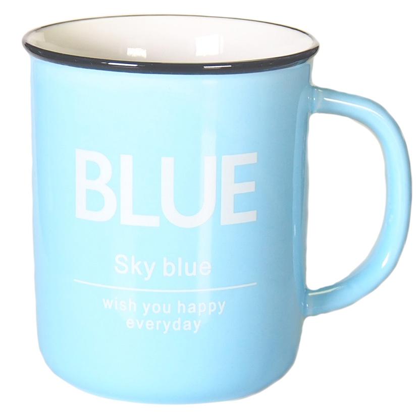 Кружка Карамба, цвет: голубой, 400 мл004906Яркая кружка объемом 400 мл