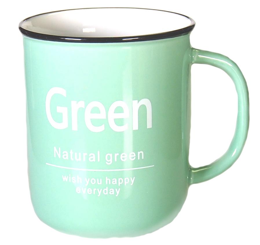 Кружка Карамба, цвет: светло-зеленый, 400 мл004907Яркая кружка объемом 400 мл