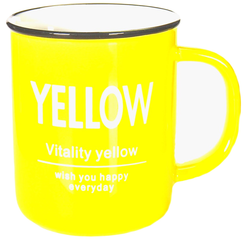 Кружка Карамба, цвет: желтый, 400 мл004908Яркая кружка объемом 400 мл