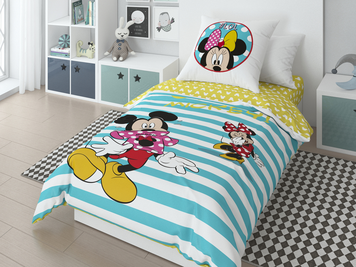 Комплект белья Disney Oh Mickey, 1,5-спальный, наволочки 70х70 см718067