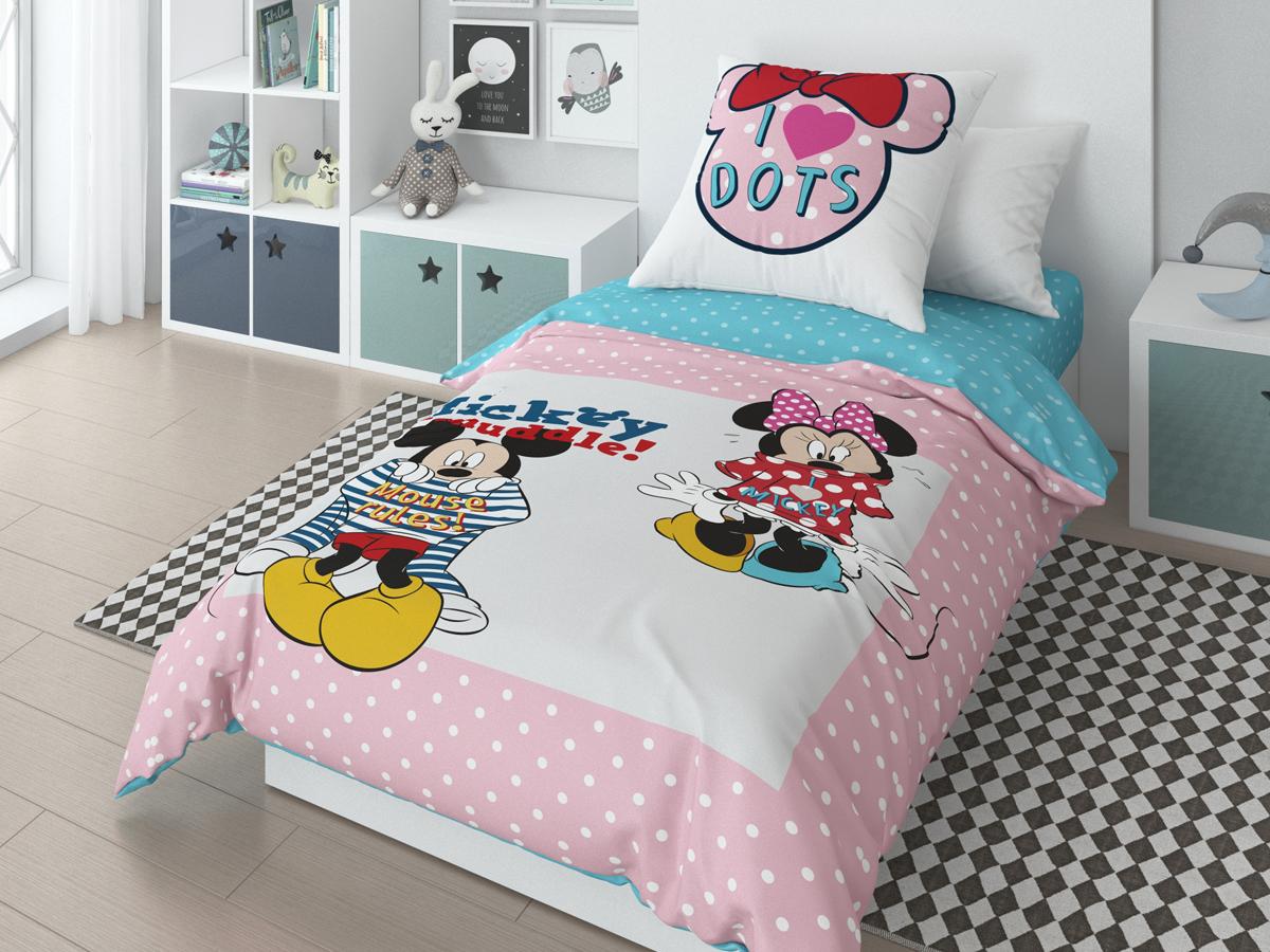 Комплект белья Disney Mickey Muddle, 1,5-спальный, наволочки 70х70 см718068Комплект белья Disney - это лицензионное постельное белье, выполненное из натуральных природных материалов. Комплект состоит из пододеяльника, простыни и наволочки. Уникальная структура ткани с высокими потребительскими свойствами. Привлекательная упаковка, позволяющая быть великолепным подарочным вариантом. Высокое качество пошива. Ручной подбор раппорта для сохранения целостности героя.