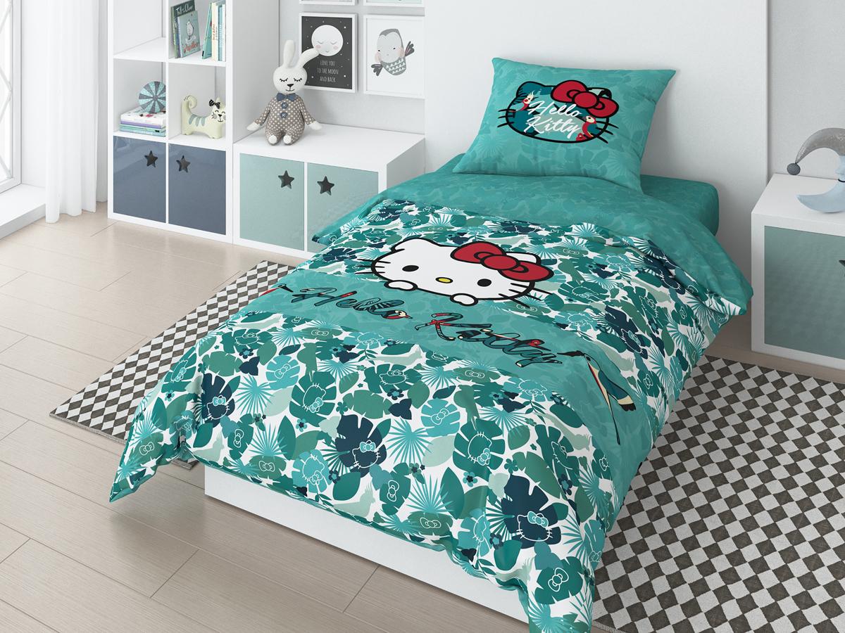 Комплект белья Hello Kitty Tropic,, 1,5-спальный, наволочки 70х70 см мячики mondo мяч hello kitty