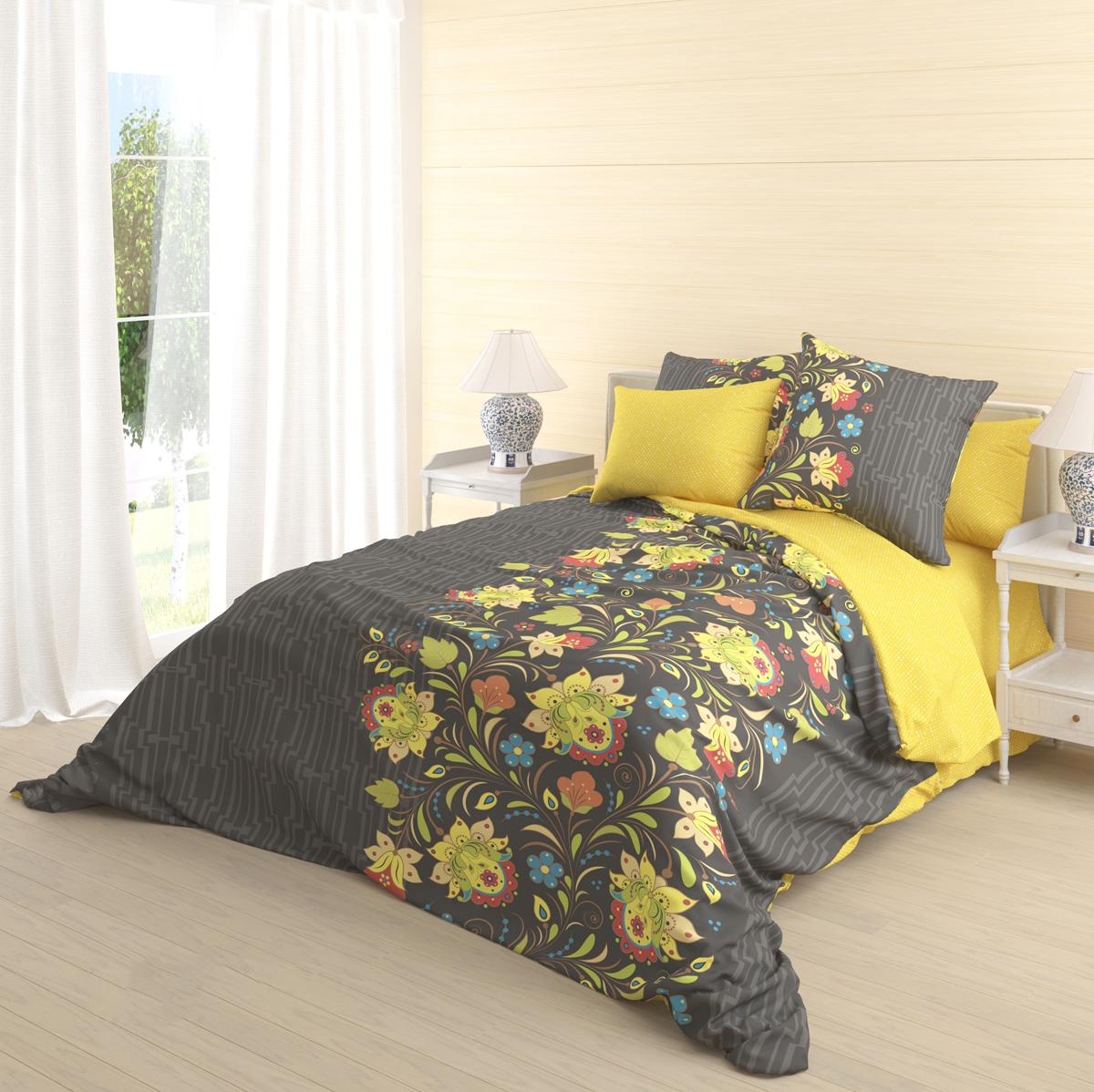 """Роскошный комплект постельного белья Волшебная ночь """"Veles"""" выполнен из натурального ранфорса (100% хлопка) и оформлен оригинальным рисунком. Комплект состоит из пододеяльника, простыни и двух наволочек.  Ранфорс - это новая современная гипоаллергенная ткань из натуральных хлопковых волокон, которая прекрасно впитывает влагу, очень проста в уходе, а за счет высокой прочности способна выдерживать большое количество стирок. Высочайшее качество материала гарантирует безопасность."""