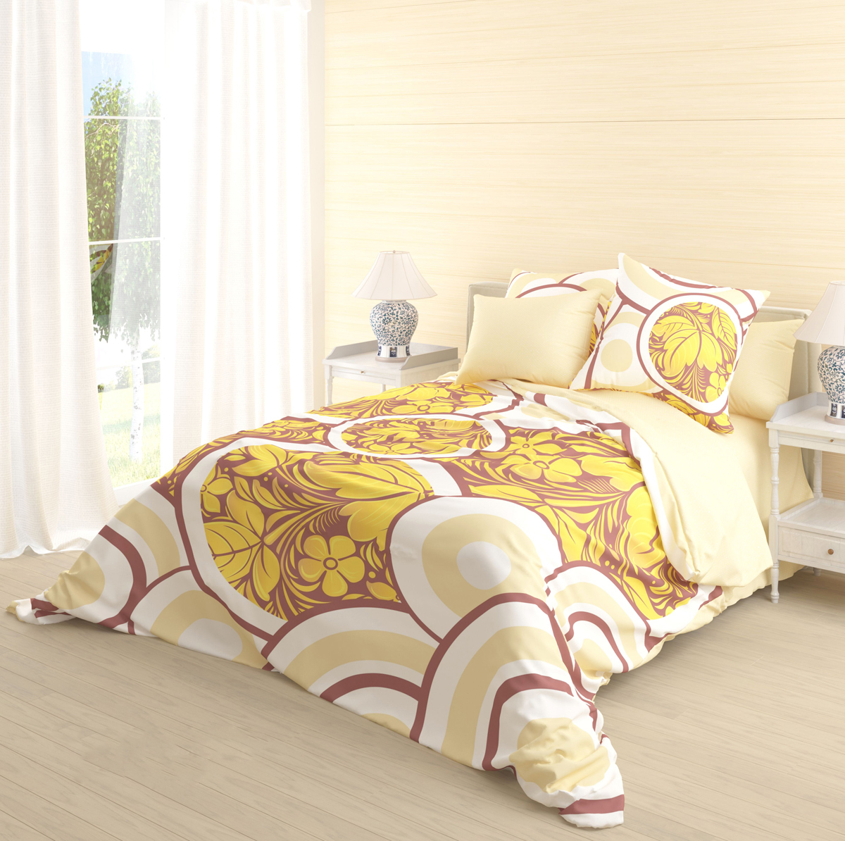 """Роскошный комплект постельного белья Волшебная ночь """"Kupava"""" выполнен из натурального ранфорса (100% хлопка) и оформлен оригинальным рисунком. Комплект состоит из пододеяльника, простыни и двух наволочек. Ранфорс - это новая современная гипоаллергенная ткань из натуральных хлопковых волокон, которая прекрасно впитывает влагу, очень проста в уходе, а за счет высокой прочности способна выдерживать большое количество стирок. Высочайшее качество материала гарантирует безопасность."""