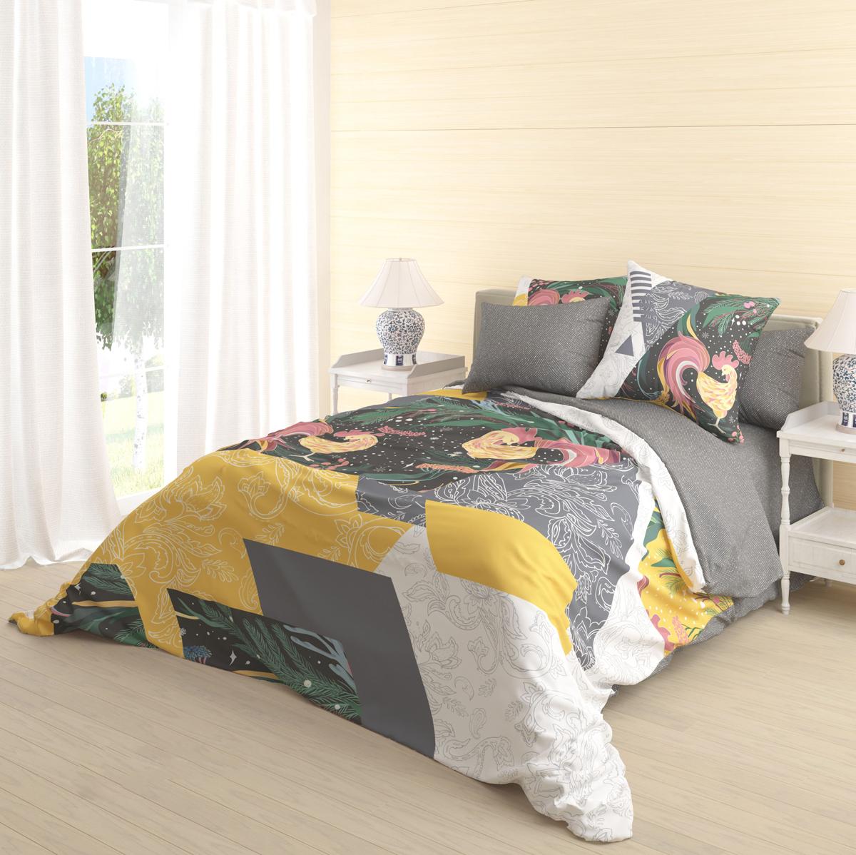 Комплект белья Волшебная ночь Zarya, 2-спальный, наволочки 70х70 см718618