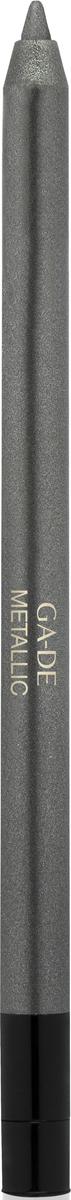 Ga-de Карандаш для глаз Metallic №101, 0,63 г106800101Плотное покрытие с металлизированным сиянием. Формула на основе комплекса восков обеспечивает комфортное нанесение, без риска травмирования кожи век. В состав входит увлажняющий кожу экстракт орхидеи и смягчающий комплекс растительных ингредиентов.