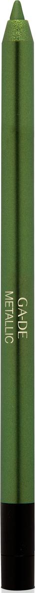 Ga-de Карандаш для глаз Metallic №103, 0,63 г106800103Плотное покрытие с металлизированным сиянием. Формула на основе комплекса восков обеспечивает комфортное нанесение, без риска травмирования кожи век.В состав входит увлажняющий кожу экстракт орхидеи и смягчающий комплекс растительных ингредиентов.
