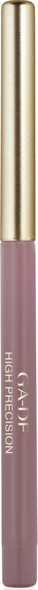 Ga-de Карандаш для губ High Precision №34, 0,63 г123300034Плотная восковая текстура. Перламутровые и матовые оттенки. Водоустойчив. На протяжении целого дня он превосходно сохраняет линию и цвет.