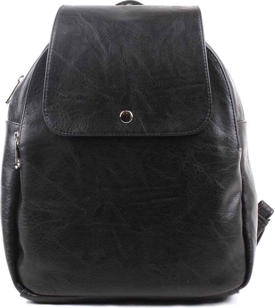 Рюкзак женский Медведково, цвет: черный. 17с6536-к14