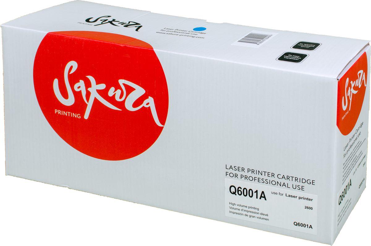 Sakura Q6001A, Blue тонер-картридж для LaserJet 1600/2600n/2605/2605dn/2605dtn/CM1015MFP/CM1017MFP compatible toner cartridge q6000a q6001a q6002a q6003a for hp laserjet 1600 2600 2605 printer series cm1015 1017 mfp series