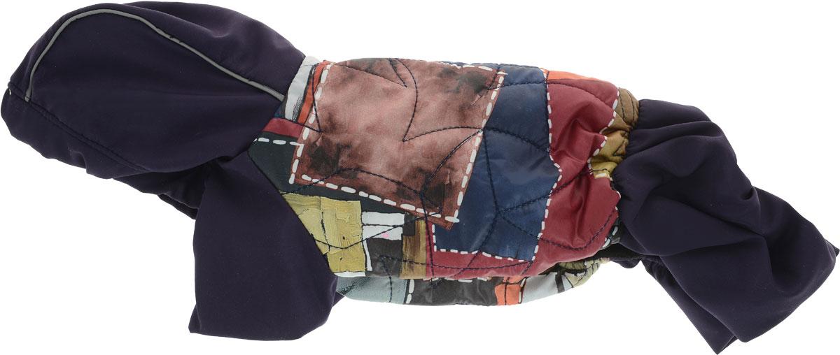 Комбинезон для собак GLG  Столица. Куртка-джинсы , унисекс, цвет: темно-синий, коричневый, бордовый. Размер S - Одежда, обувь, украшения - Одежда