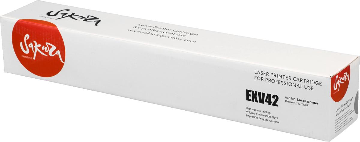 Sakura CEXV42, Black тонер-туба для Canon iR-2202/2204