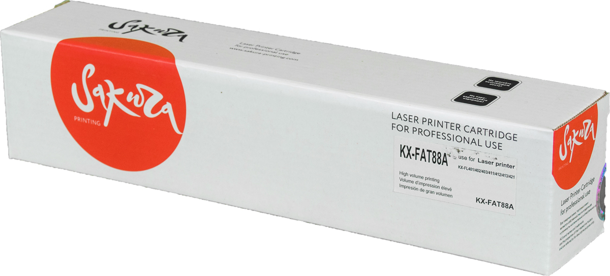 Sakura KXFAT88A, Black тонер-картридж для Panasonic KX-FL403/FL423/FLC413/FLC418