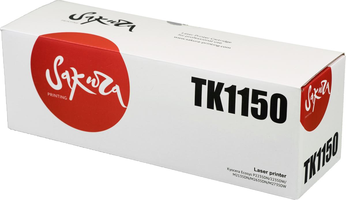 Sakura TK1150, Black тонер-картридж для Kyocera Mita ECOSYS m2135dn/m2635dn/m2735dw/p2235dn/p2235dwSATK1150