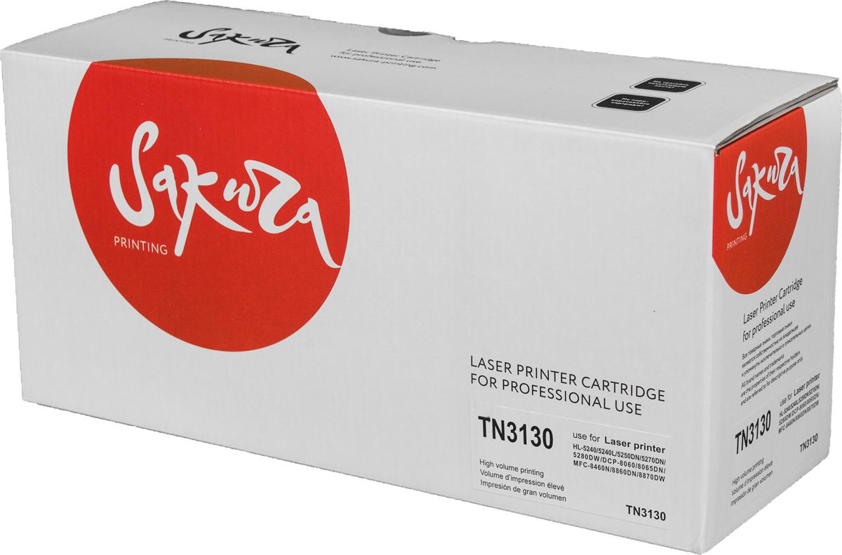Sakura TN3130, Black тонер-картридж для Brother HL-5240/HL-5240L/HL-5250DN/HL-5270DN/HL-5280DW/DCP-8060/DCP-8065DN/MFC-8460N/MFC-8860DN/MFC-8870DWSATN3130Тонер-картридж Sakura TN3130 для лазерных принтеров Brother HL-5240/HL-5240L/HL-5250DN/HL-5270DN/HL-5280DW/DCP-8060/DCP-8065DN/MFC-8460N/MFC-8860DN/MFC-8870DW является альтернативным решением для замены оригинальных картриджей. Он печатает с тем же качеством и имеет тот же ресурс, что и оригинальный картридж. В картриджах компании Sakura используется химический синтезированный тонер, который в отличие от дешевого тонера из перемолотого полимера, не царапает, а смазывает печатающий вал, что приводит к возможности многократных перезаправок картриджей. Такой подход гарантирует долгий срок службы принтера, превосходное качество и стабильность печати.Тонер-картриджи Sakura производятся при строгом соответствии стандартам ISO 9001 и ISO 14001, что подтверждено международными сертификатами.