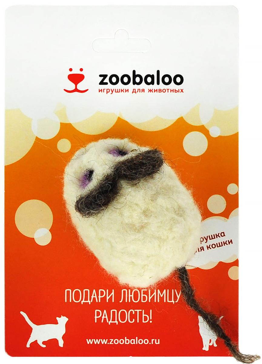 Игрушка для животных Zoobaloo Шерстяная мышь Эмма. 348348100% шерсть мериноса, ручная работа