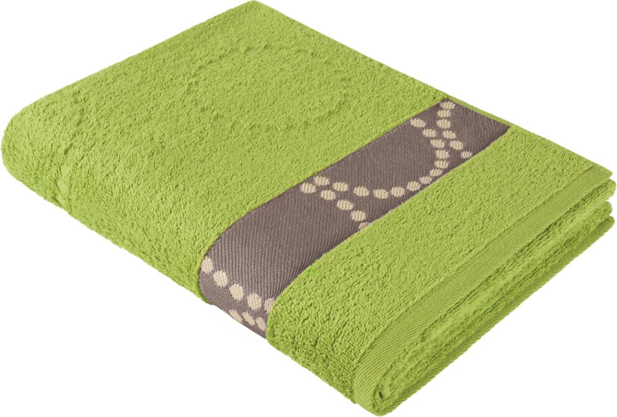 Полотенце махровое Aquarelle Таллин 2, цвет: травяной, 50 x 90 см bon appetit кухонное полотенце aquarelle 38х63 см