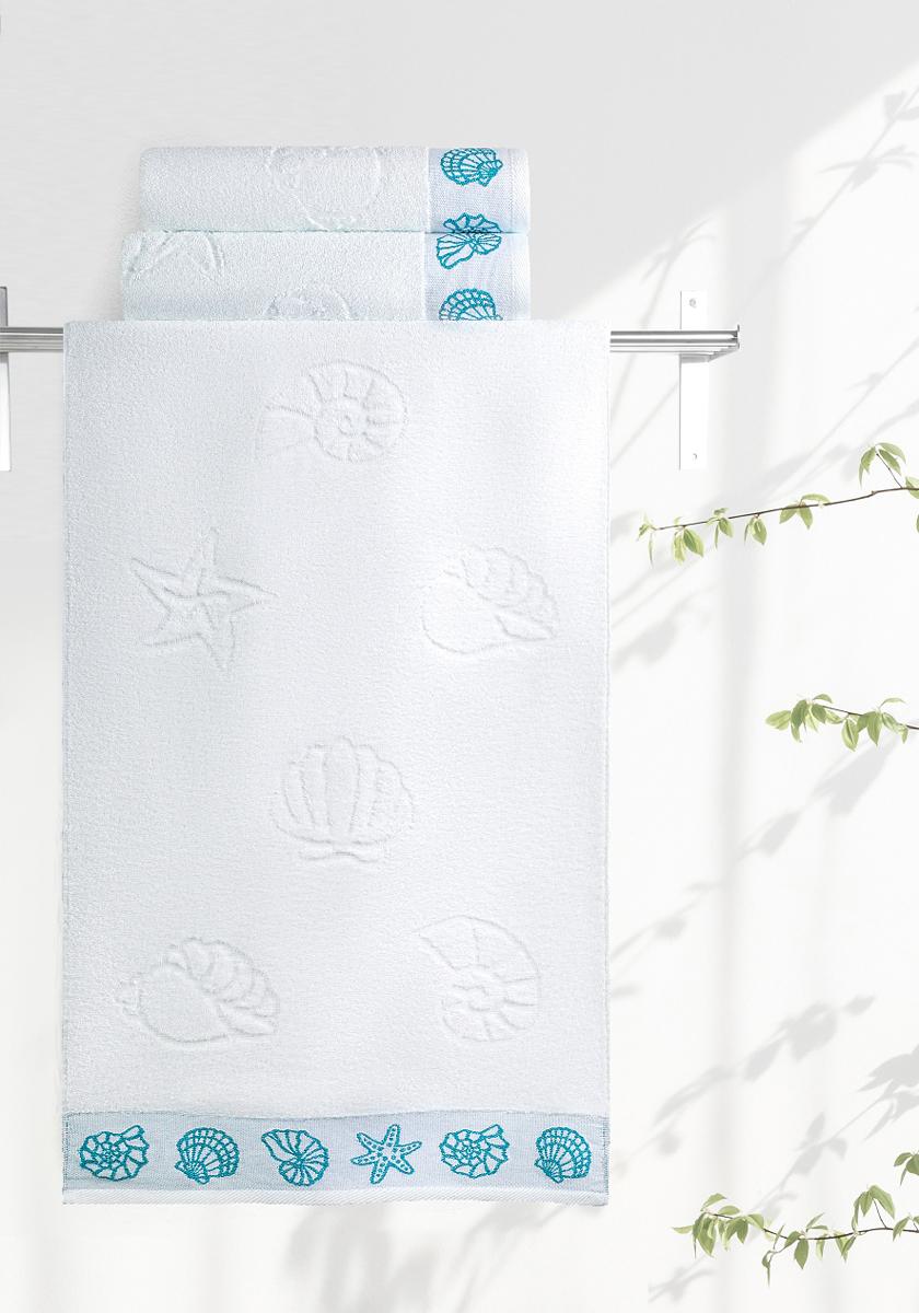 """Махровое полотенце Aquarelle """"Ракушки"""" неотъемлемая часть повседневного быта, оно создает дополнительные акценты в ванной комнате. Продукция производится из высококачественных материалов."""