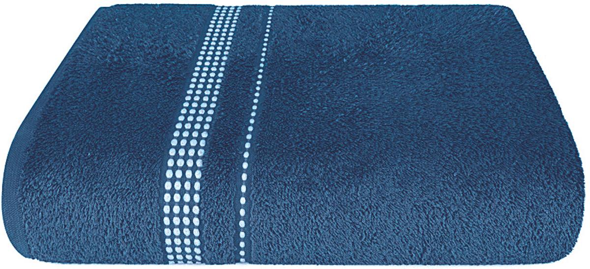 Полотенце махровое Aquarelle Лето, цвет: темно-синий, 50 x 90 см bon appetit кухонное полотенце aquarelle 38х63 см