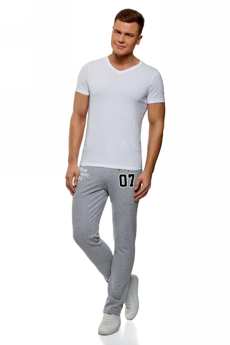 Брюки спортивные мужские oodji Lab, цвет: светло-серый. 5L230005I/47648N/2010P. Размер XS (44)