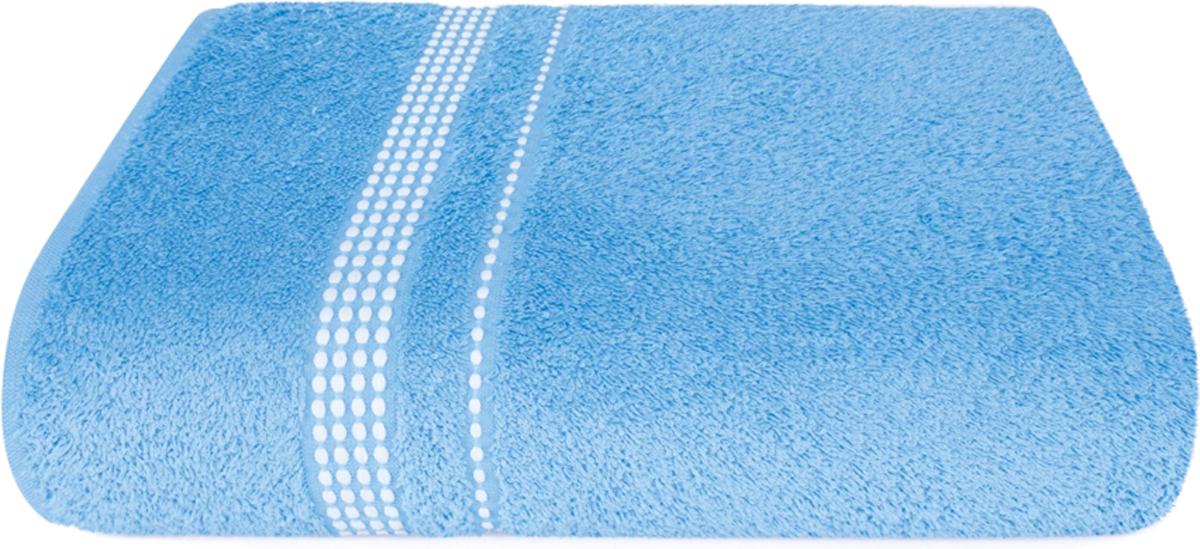 Полотенце махровое Aquarelle Лето, цвет: спокойный синий, 50 x 90 см полотенце махровое aquarelle таллин 1 цвет ваниль 50 х 90 см 707762