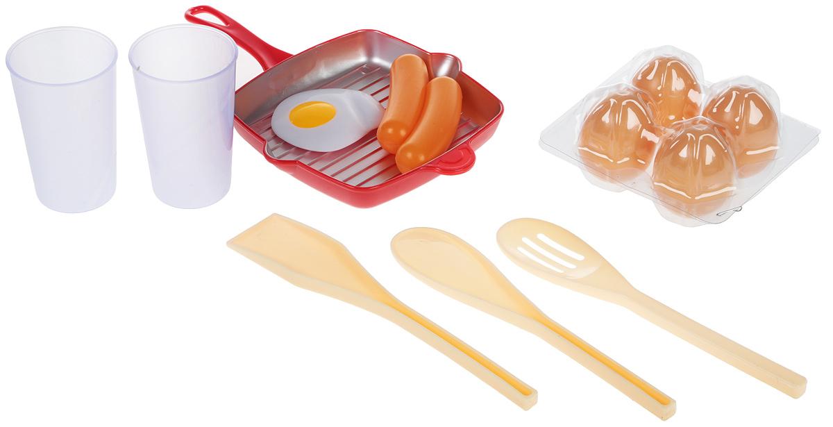 Altacto Игровой набор посуды с продуктами Доброе утро 12 предметов